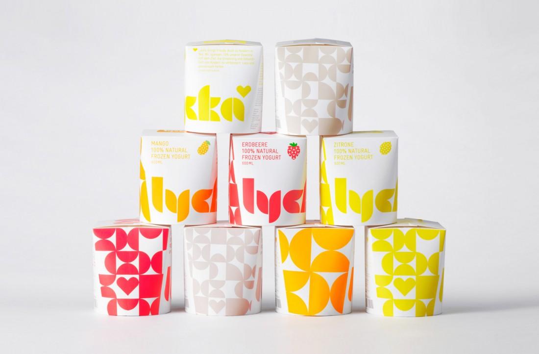 Packaging Design for Lycka Frozen Yogurts