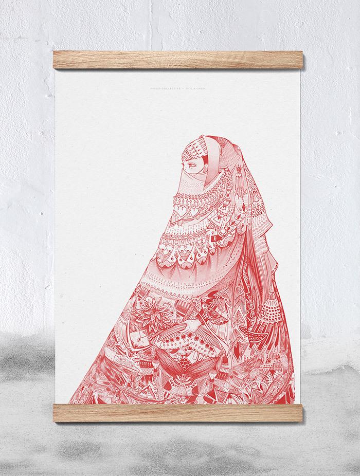 paper collective_Emilie-Iman-Niqab