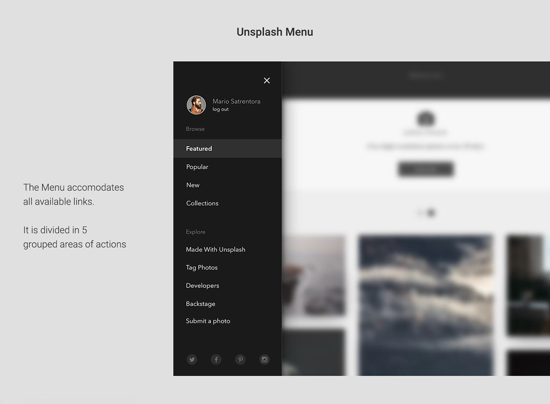 unsplash website design